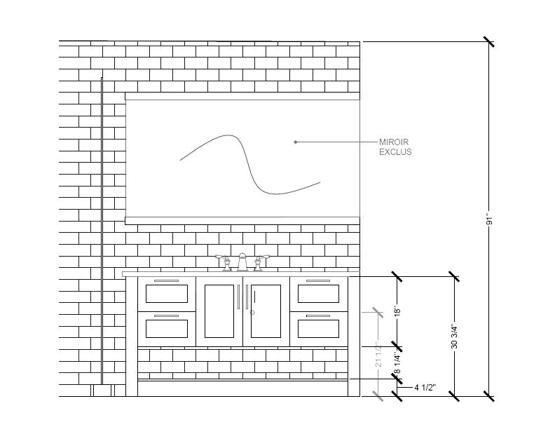 Salle de bain - Projet Guilmette_site